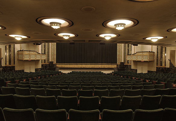 View of the stage at Victoria Theatre