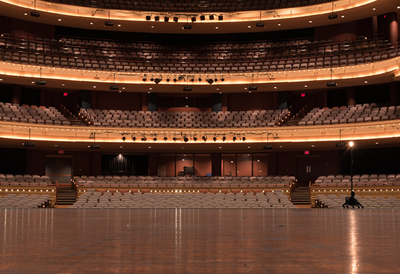 Schuster Center Mead Theatre as viewed from the stage
