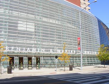 Exterior photo of the Schuster Center Wintergarden