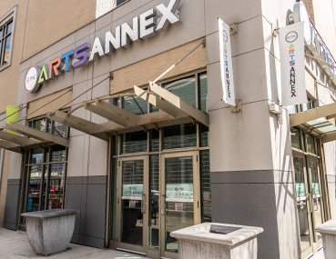 Exterior photo of the PNC Arts Annex