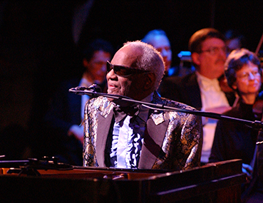 Ray Charles performing at the Schuster Center Grand Opening gala.