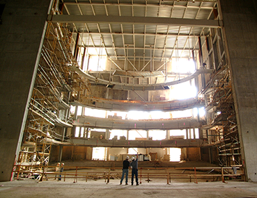 Construction of the Meade Theater at the Schuster Center.