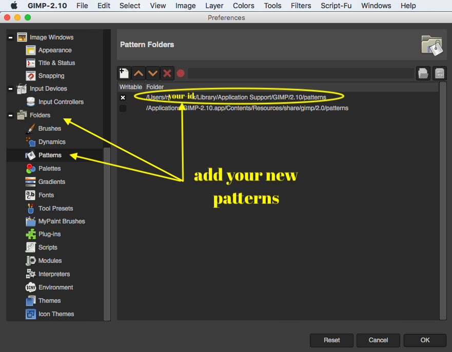 Adding A GIMP Pattern