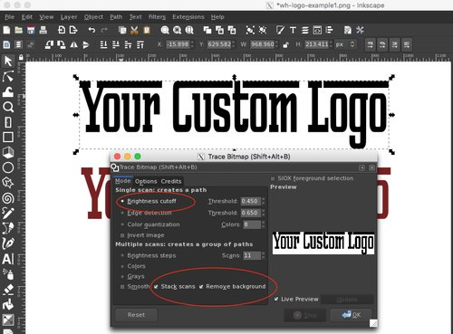 How to remove a white background from a logo or image with Inkscape