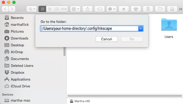 preference file - browse-to-inkscape-directory