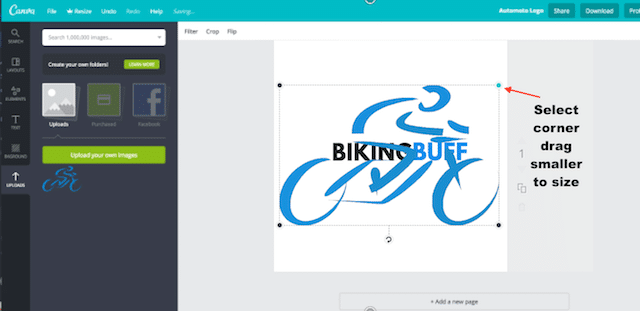 adding logo graphic to logo