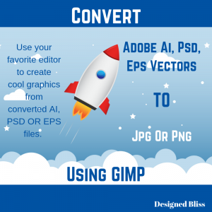 Convert Vector Files To PNG JPG With GIMP