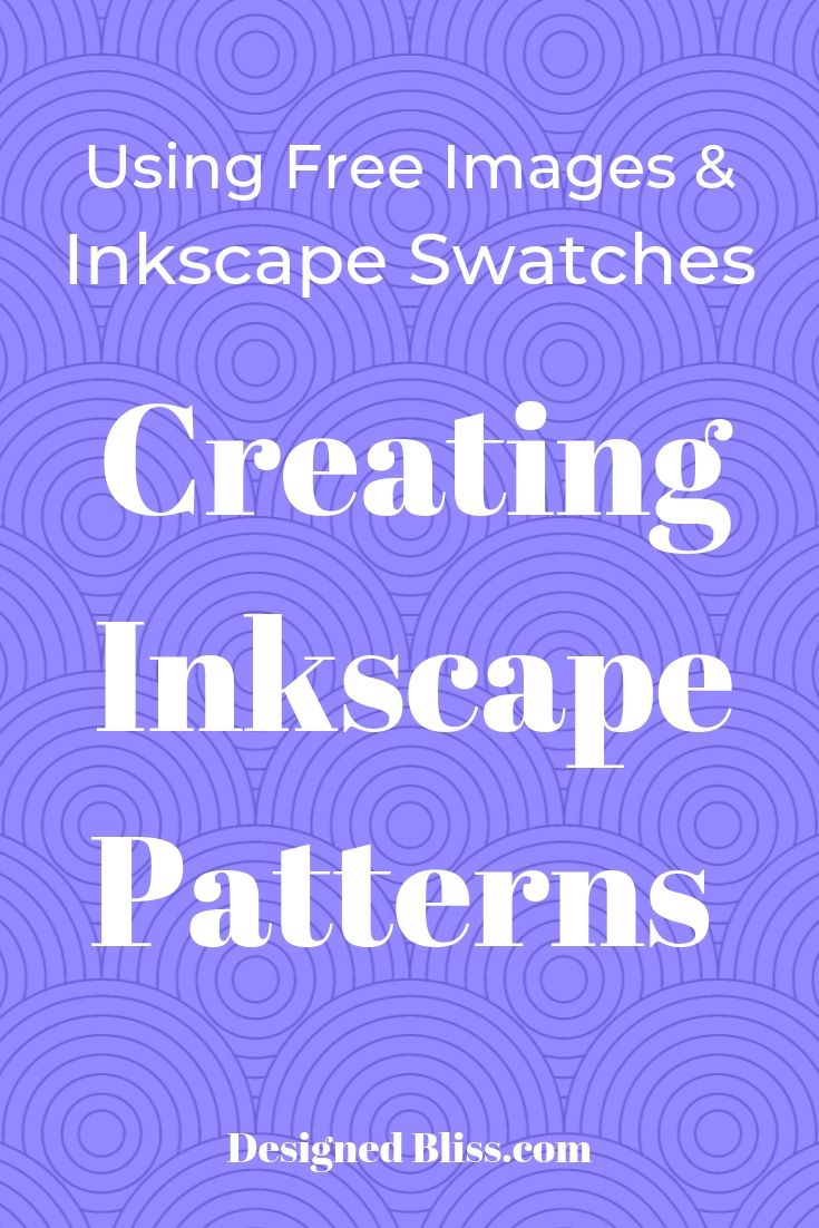 how to create inkscape patterns using the inkscape pattern fill command