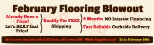 February Flooring Blowout