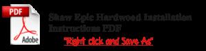 epic hardwood installation instructions