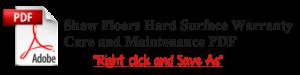 shaw floors hard surface warranty care and maintenance