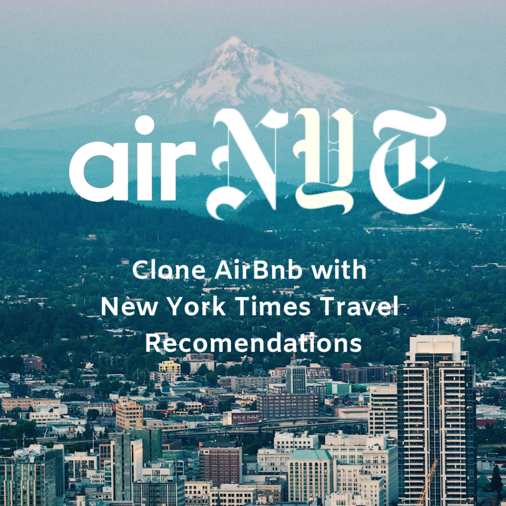 AirNYT: Clone Airbnb with New York Times Travel Data