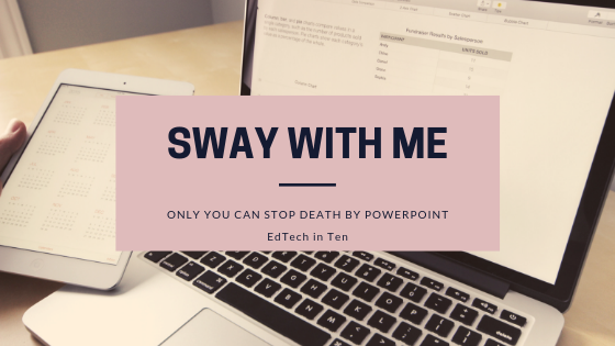 Microsoft Sway is a free tool for creating gorgeous presentations. You upload the material, and it does the work of making it look good.
