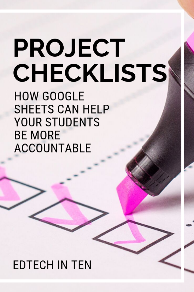 Creating assignment checklists in Google Sheets is a great way to keep students organized and teach them to be accountable for their work.