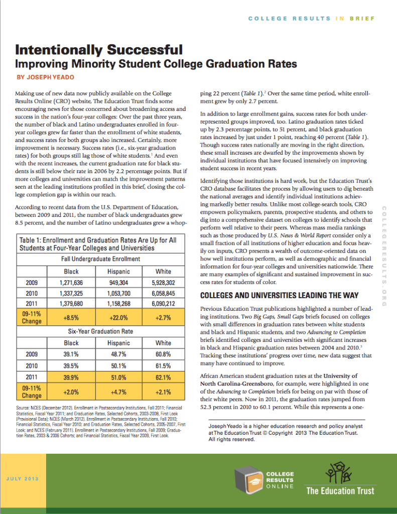 Intentionally Successful: Improving Minority Student College