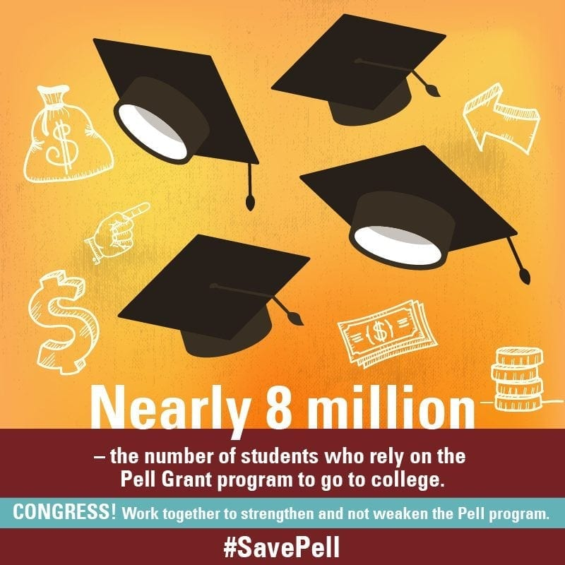Nearly 8 millions students a year use Pell Grants to attend college