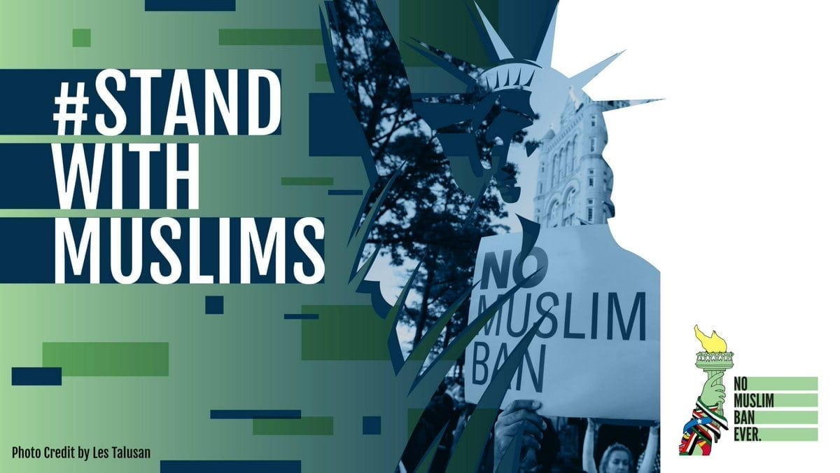 Stand With Muslim Rally Graphic