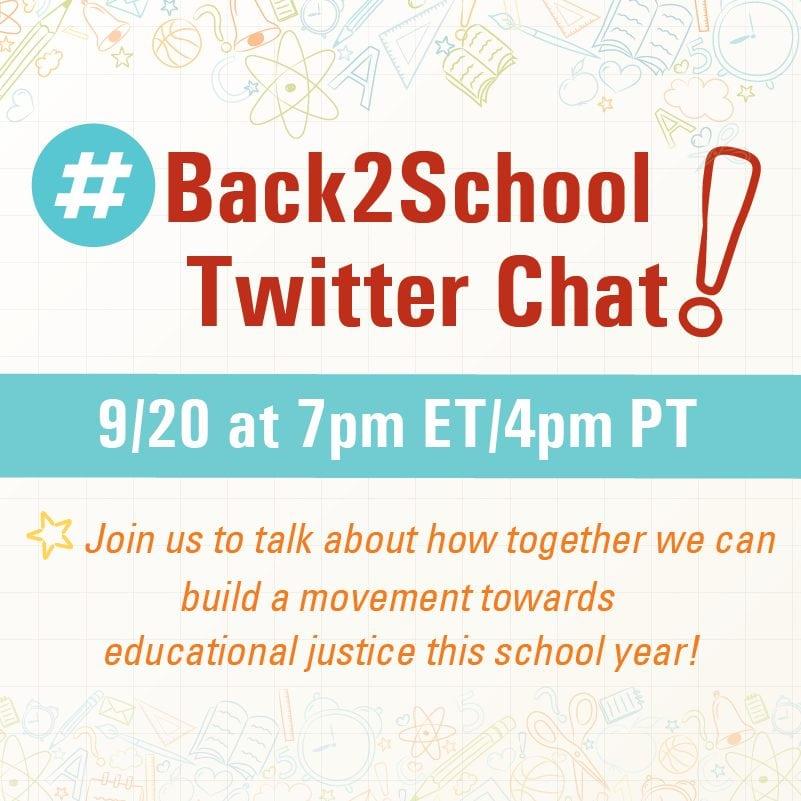 BackToSchool Twitter Chat