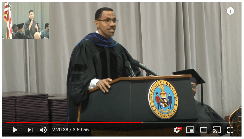 John King, Jr at UMES Spring 2019 Commencement