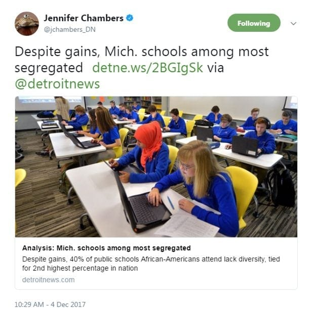 Despite gains, Mich. schools among most segregated http://detne.ws/2BGIgSk via @detroitnews