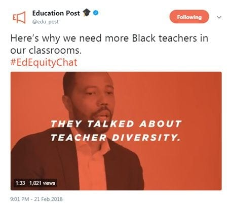 [Here's why we need more Black teachers in our classrooms. #EdEquityChat]