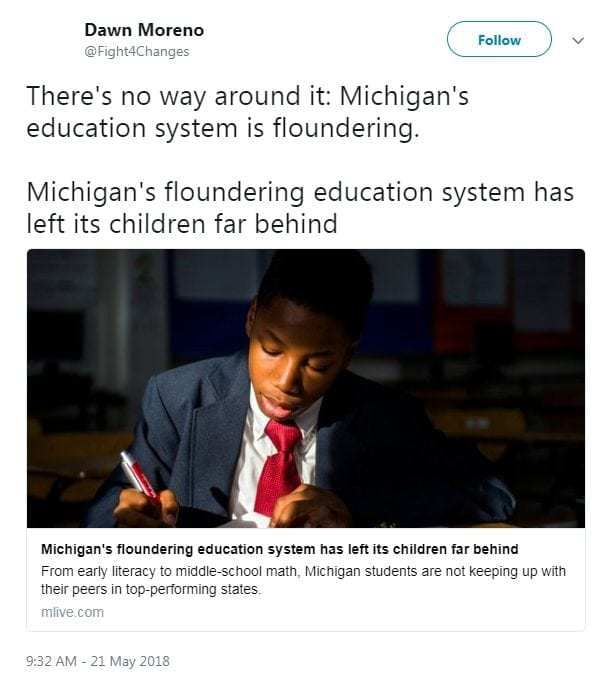 There's no way around it: Michigan's education system is floundering.   Michigan's floundering education system has left its children far behind