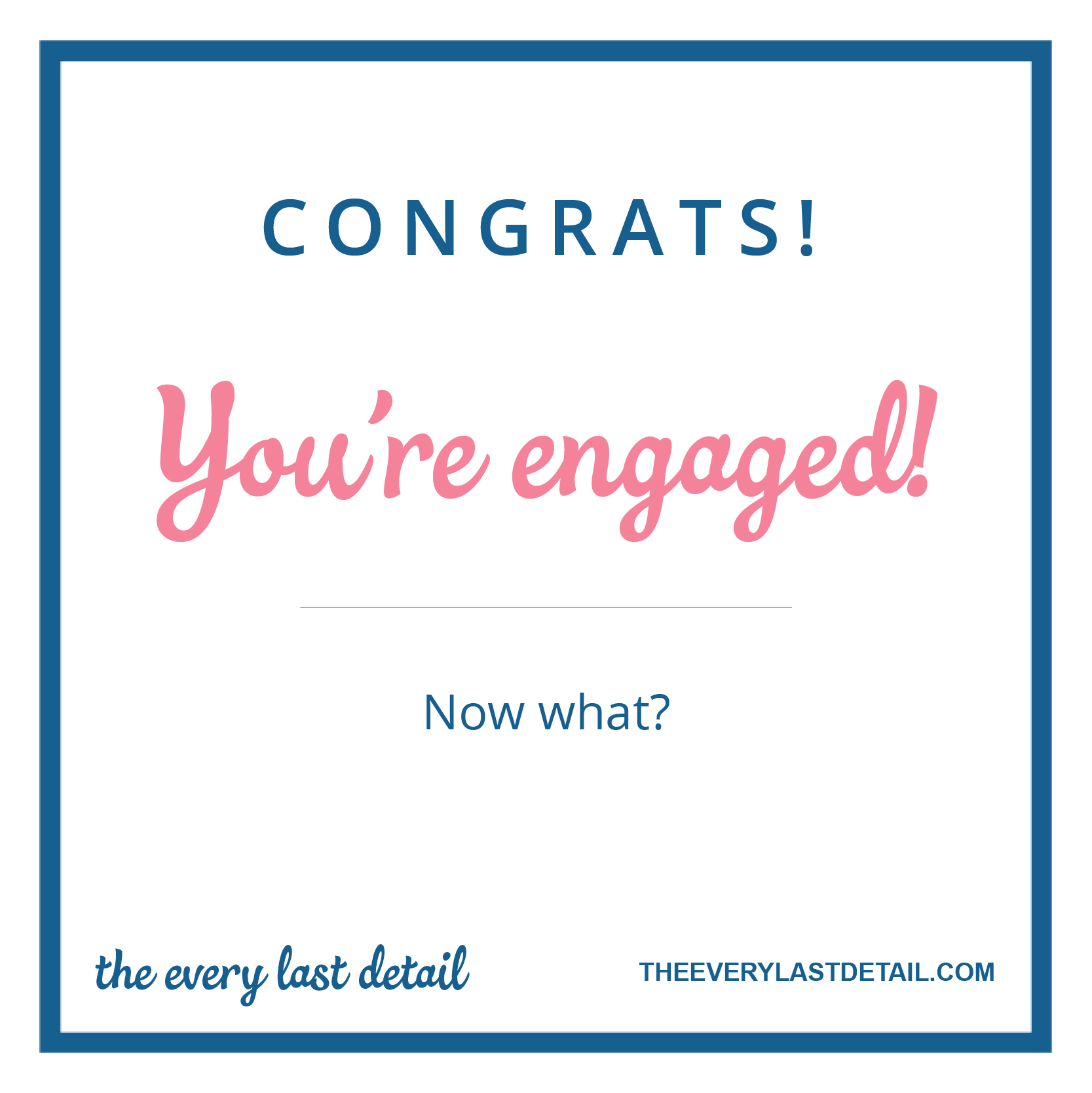 Congrats! Youre Engaged...Now What? via TheELD.com