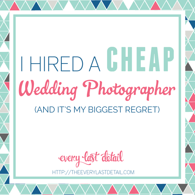 I Hired A Cheap Wedding Photographer Every Last Detail
