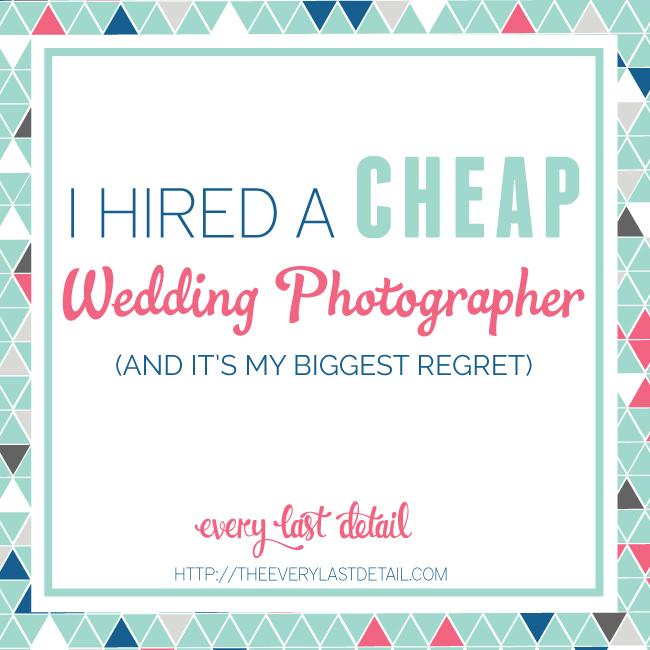 I Hired A Cheap Wedding Photographer via TheELD.com