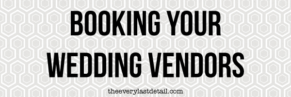{Thursday Tips} Booking Your Wedding Vendors via TheELD.com