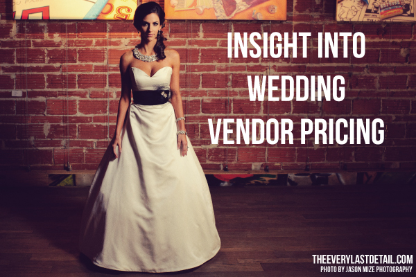 {Thursday Tips} Insight Into Wedding Vendor Pricing via TheELD.com