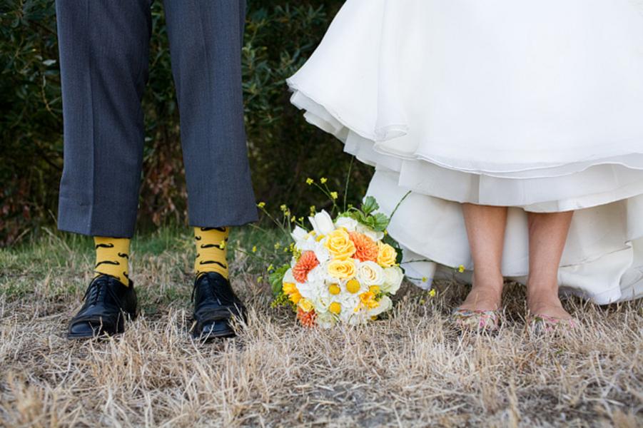 Yellow & Green California Ranch Wedding via TheELD.com