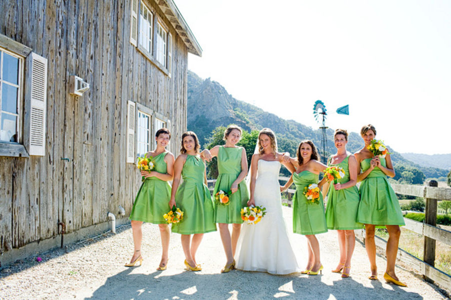 yellow green california ranch wedding every last detail