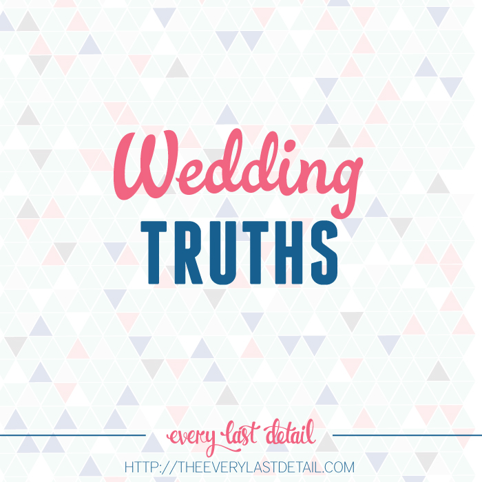 Wedding Truths via TheELD.com