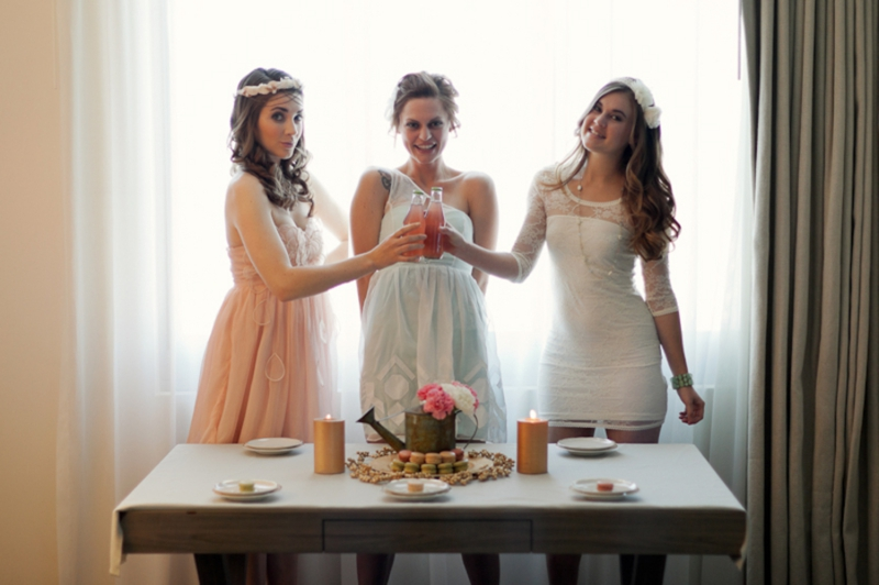 fashionable bridal shower bridesmaid inspiration via theeldcom