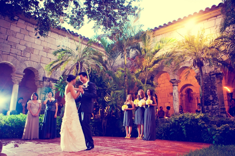 Vintage Yellow & White Spanish Monastery Wedding via TheELD.com