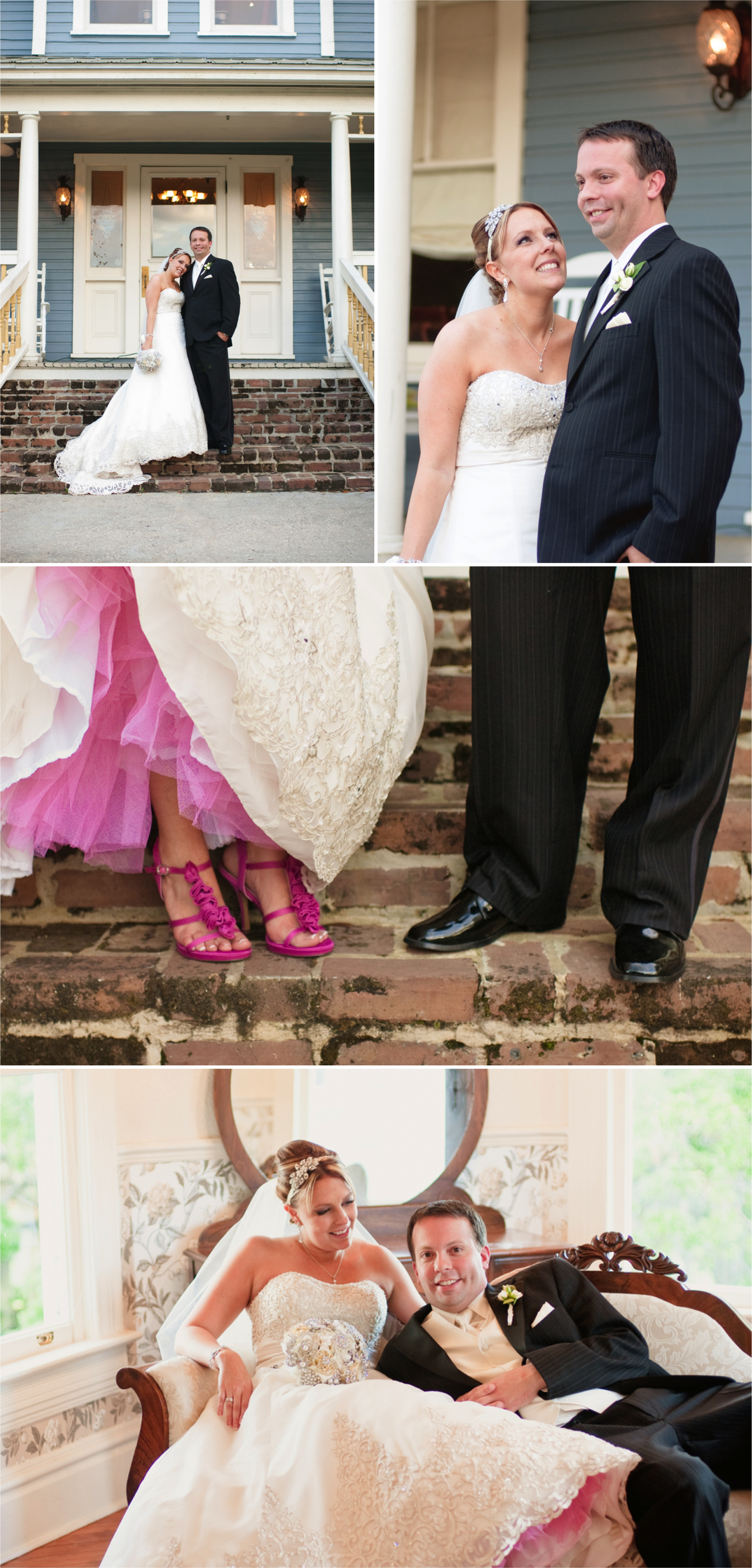 Elegant and Vintage Pink Florida Wedding via TheELD.com