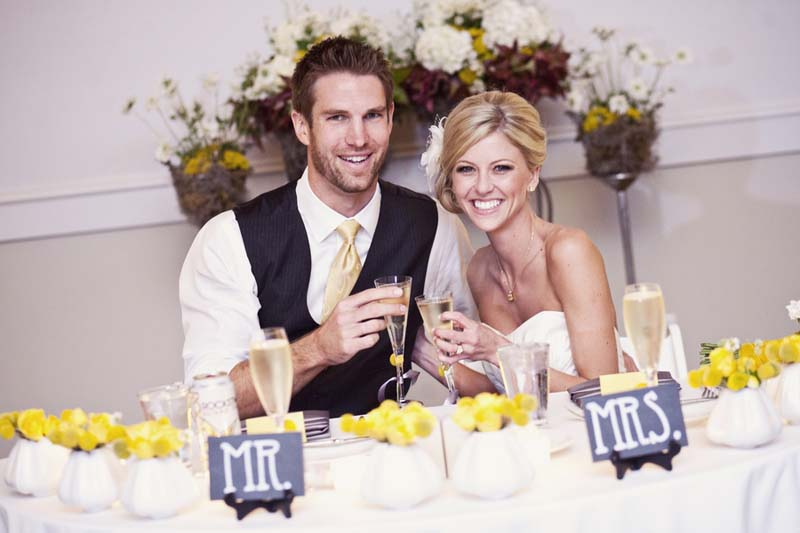 Yellow Bicycle Themed California Wedding via TheELD.com