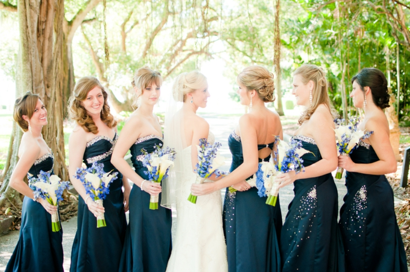 Elegant Blue and Gold Italy Inspired Wedding via TheELD.com