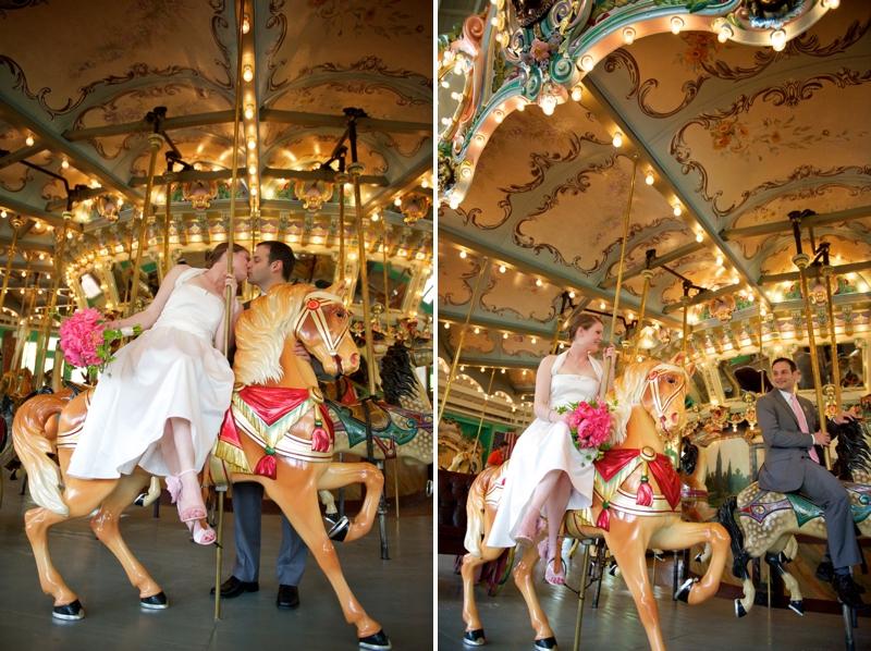 Eclectic Pink, Orange & Aqua DC Wedding via TheELD.com