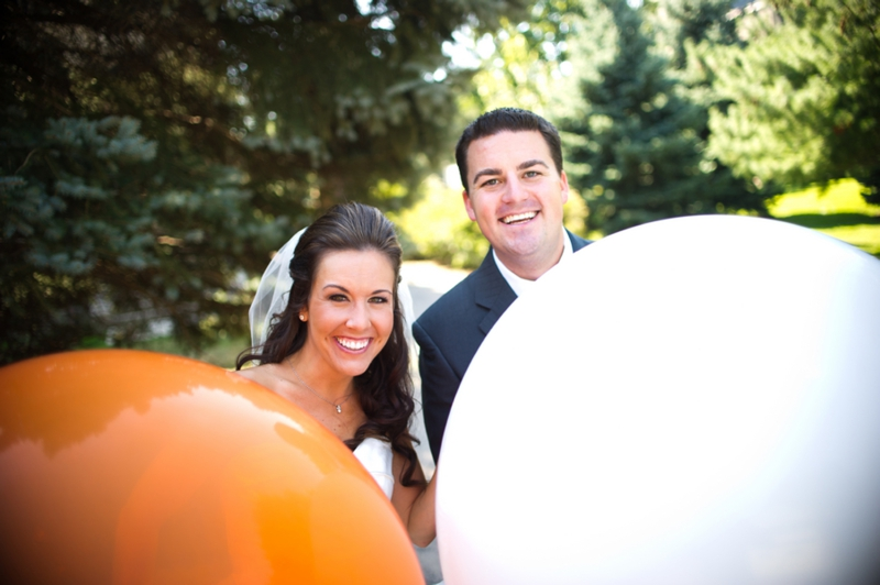 Pink & Orange Modern, Eclectic Wedding via TheELD.com