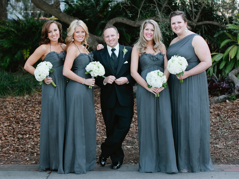 Modern, Elegant Gray & White Wedding via TheELD.com