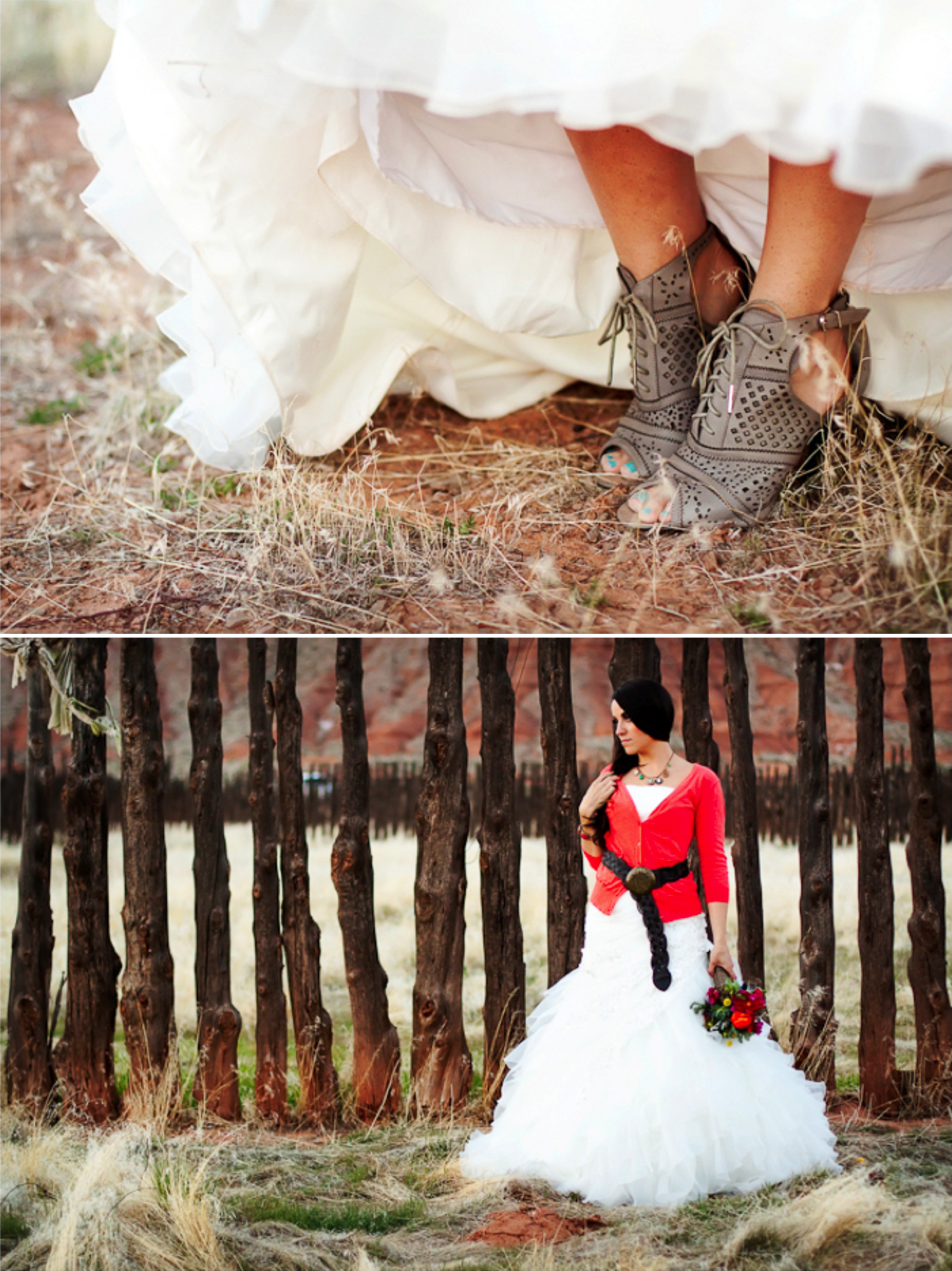 Boho Chic & Natural Wedding Inspiration via TheELD.com