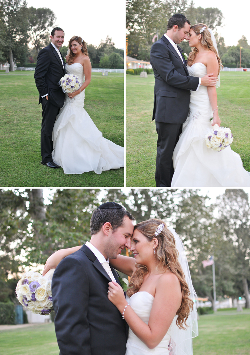 Classic Pink & Purple California Wedding via TheELD.com