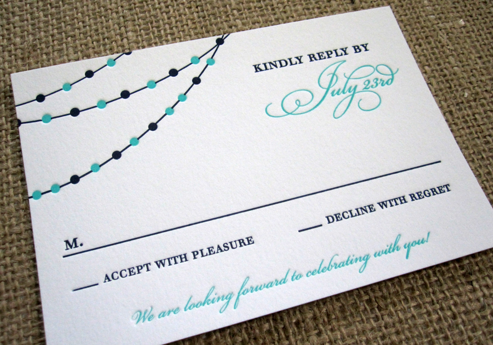 wedding invitation reply