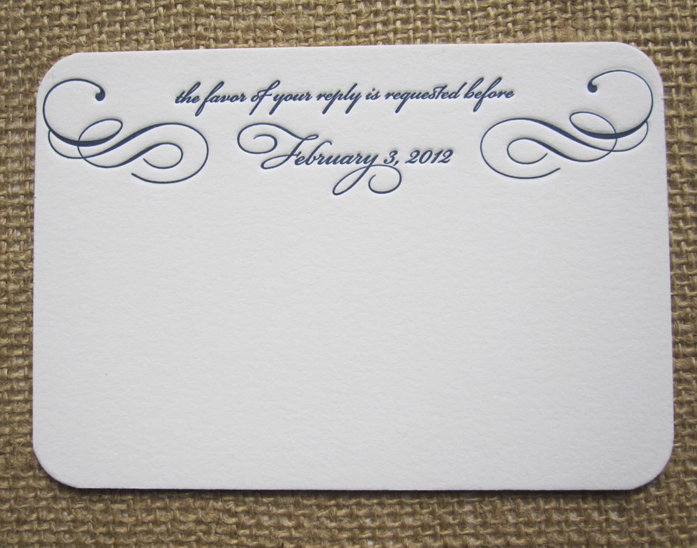 Rsvp card insight etiquette every last detail stationery week rsvp card insight via theeld stopboris Choice Image