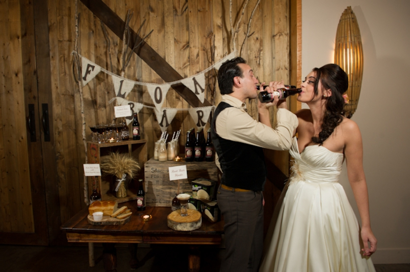 Rustic Root Beer Wedding Inspiration via TheELD.com