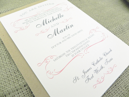 Wedding Invitation Wording English: Wedding Invitation Wording