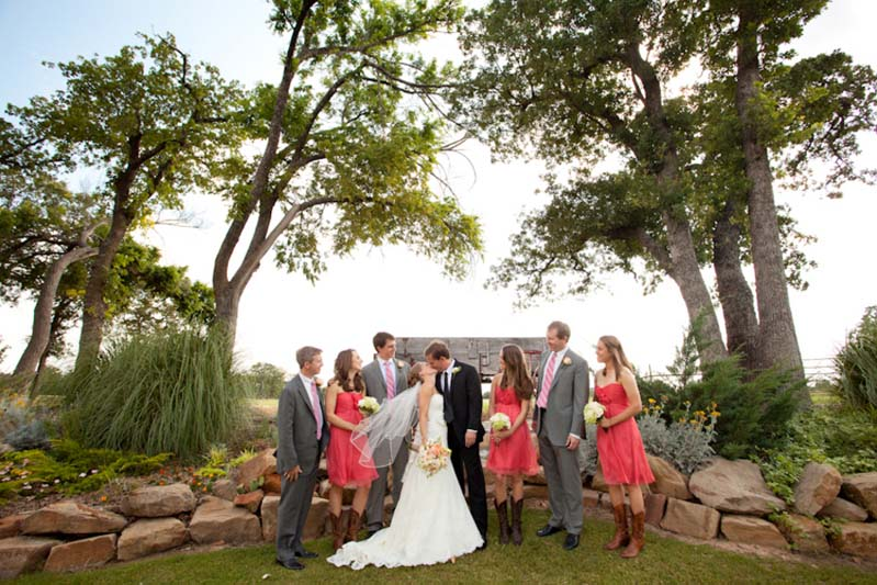 Rustic Elegant Pink Texas Wedding via TheELD.com
