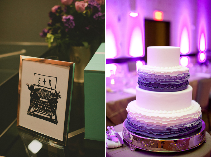 Modern Purple Pittsburgh Wedding  via TheELD.com
